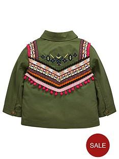mini-v-by-very-girls-embroidered-pom-pom-shacketnbsp--khaki