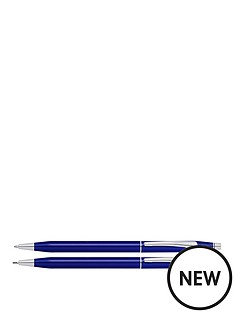 cross-cross-classic-century-blue-ball-point-pen-and-pencil-set