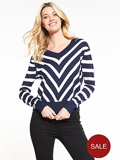 v-by-very-diagonal-stripe-v-neck-front-and-back-jumper-navywhite