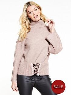 v-by-very-corset-hem-roll-neck-jumper-mink