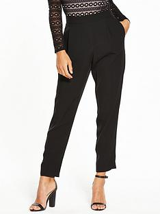 wallis-petite-pull-on-henna-trouser