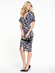 v-by-very-workwear-printed-wiggle-dress-floral-print