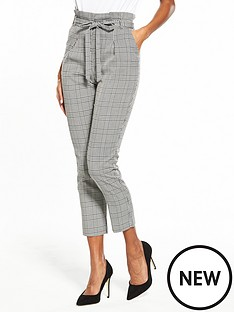miss-selfridge-check-high-waisted-belted-tailored-trouser