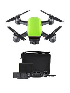 dji-spark-fly-more-combo-quadcopter-drone-meadow-green