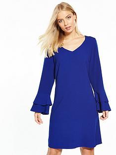 wallis-double-fluted-sleeve-shift-dress