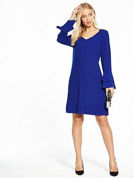 Cheap Sale Recommend Shift Fluted  Wallis Blue Double Dress Sleeve Free Shipping Cheapest Price vQt8gVL