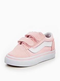 082d62a9686522 Vans TD Old Skool V Infant Trainer - Pink