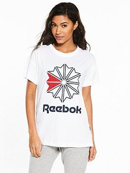 nbsp  Logo Tee Classics White Reebok Online For Sale Factory Sale Free Shipping Fashion Style Buy Cheap Looking For Cheap Amazing Price 4rROkYhy
