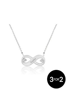 keepsafe-keepsafe-personalised-sterling-silver-infity-cubic-zirconia-pendant