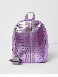 river-island-river-island-girls-medium-lazercut-metallic-backpack
