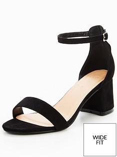 fb20074c25e V by Very Emeli Wide Fit Block Heel Sandal - Black