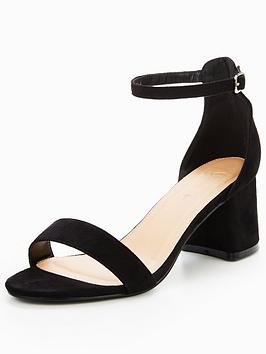 Discount 100 Original by Sandal Very Heel  Fit V Black Block Emeli Wide Cheap Price Original tGVeaWR2
