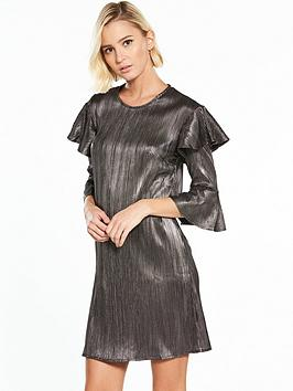 Dress Tee Island River Silver Frill Foil River Island Buy Cheap Low Price Fee Shipping Clearance Looking For mYy9fMTLu