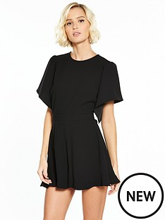 river-island-river-island-short-sleeve-playsuit--black