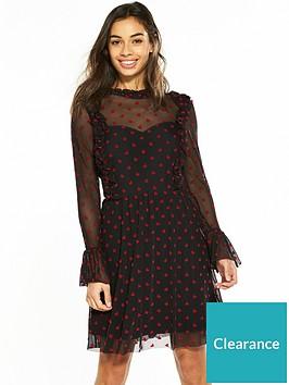 v-by-very-petite-heart-flock-mesh-skater-dress