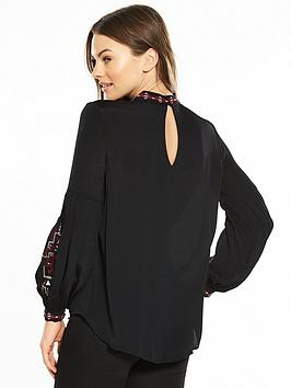 Buy Best Clearance Online Official Site Blouse Stud River Island Black Cheap Sale Good Selling q9wA8sqKO