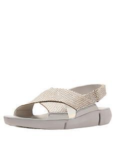 0ecd058e8691 Clarks Tri Chloe Chunky Flat Sandal - Metallic