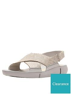 f6488177b341 Clarks Tri Chloe Chunky Flat Sandal - Metallic