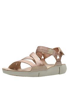 b0f2183f150b7 Clarks Tri Sienna Luxury Velcro Strap Flat Sandal - Rose Gold