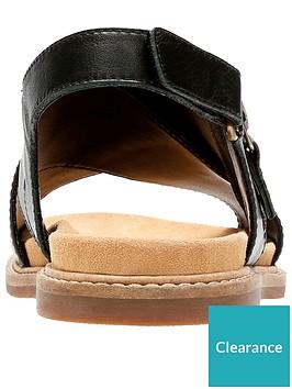 bb8a3bcc2c90 Clarks Corsio Calm Thick Strap Flat Sandal - Black ...