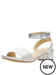 b63fe73e2e75 Clarks Orabella Rose Block Heel Sandal - White