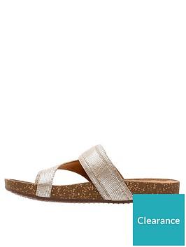 7737fabeda9 Clarks Rosilla Durham Flat Toe Post Sandal - Gold ...