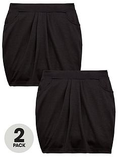 v-by-very-girls-2-pack-jersey-tulip-school-skirts-black