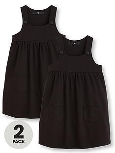v-by-very-girls-2-pack-jersey-pinaforenbspschool-dresses-black