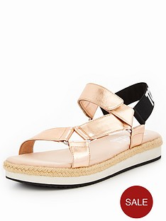 tommy-jeans-fresh-modern-metallic-flat-sandal-rose-gold