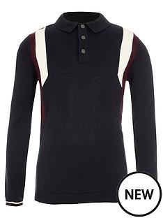 river-island-boys-navy-long-sleeve-blocked-knit-polo-shirt