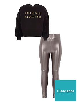 river-island-girls-black-faux-fur-sleeve-sweatshirt-outfit
