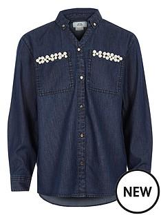 river-island-girls-blue-embellished-pocket-denim-shirt