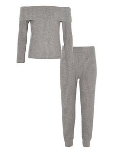 river-island-girls-grey-ribbed-bardot-top-outfit