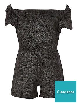 river-island-girls-black-metallic-bow-bardot-playsuit