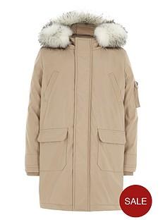 river-island-boys-stone-faux-fur-trim-hood-parka-coat
