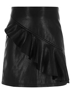 river-island-girls-black-faux-leather-frill-a-line-skirt