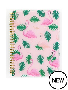 go-stationery-flamingo-a5-polyprop-notebook