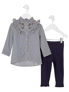 river-island-mini-girls-blue-stripe-frill-shirt-outfit