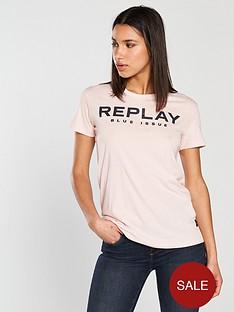 replay-blue-jeans-t-shirt-light-rose