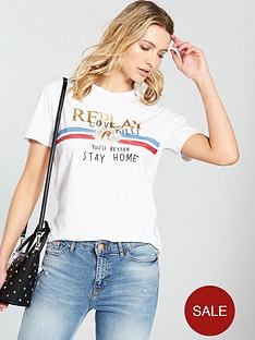replay-love-kills-distressed-t-shirt-white