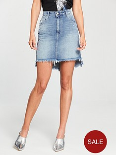 replay-frayed-and-distressed-denim-skirt
