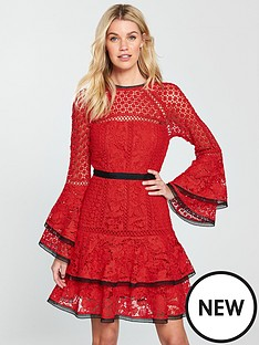 v-by-very-lace-tiered-flippy-dress-red