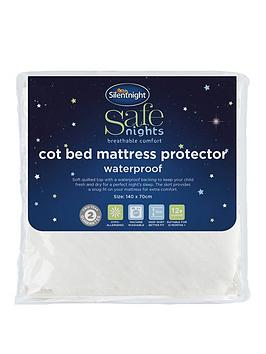 Silentnight Quilted Waterproof Cot Bed Mattress Protector Littlewoodsireland Ie