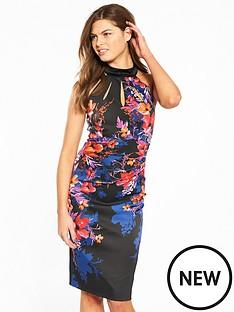karen-millen-midnight-floral-signature-stretch-dress