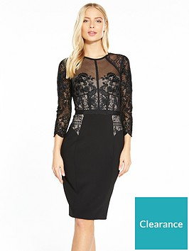 karen-millen-beaded-and-embroidered-victoriana-dress-black