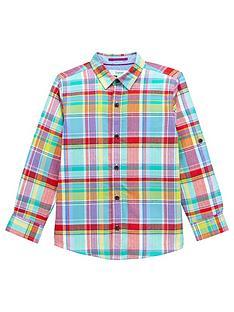 baker-by-ted-baker-boys039-multi-coloured-checked-shirt