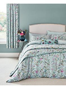va-botanica-100-cotton-bedspread-throw-ndashnbspaqua