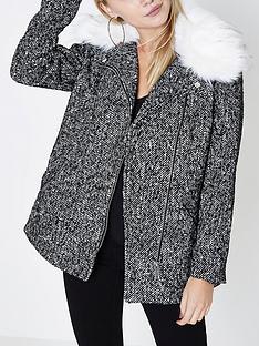 ri-petite-faux-fur-collar-coat--grey