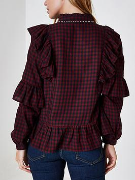 2018 Cheap Price Petite Dark Check Blouse Embroided RI Affordable Sale Online KtTBu
