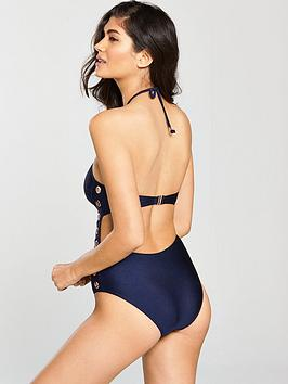 High Neck Swimsuit Navy Very  Eyelet by V Sale Official M4OHkBfQAY